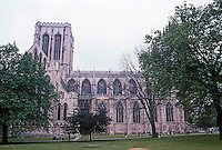 York: York Minster, Crossing & Nave--the purpose of this and the previous slide is to show the great length of this cathedral. Photo '87.