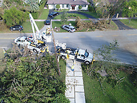 2017 FPL Hurricane Irma damage in Coral Gables, Fla. on September 15, 2017.