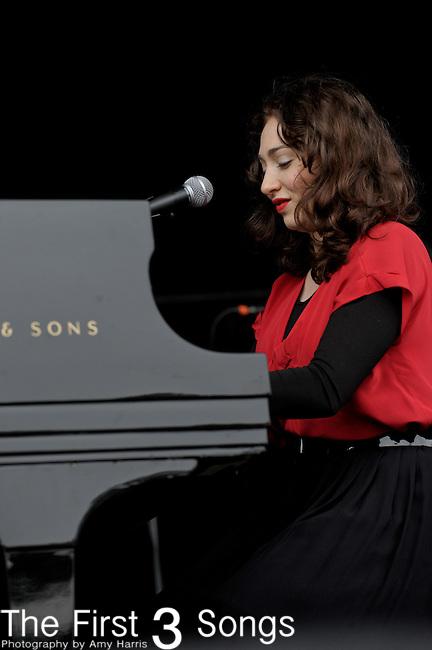 Regina Spektor performs at the Outside Lands Music & Art Festival at Golden Gate Park in San Francisco, California.
