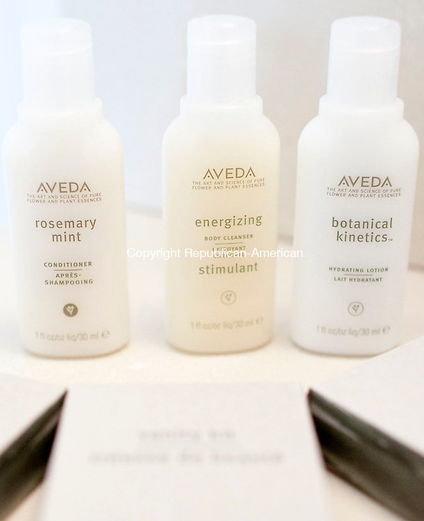 WOODBURY, CT-27 April 2012-042712BF07-- Aveda products will be used in each room at The Milestone Inn on South Pomperaug Avenue in Woodbury. The newly renovated 10-room motel is nearing completion.   Bob Falcetti Republican-American