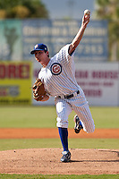 Brooks Raley of the Daytona Beach Cubs during the game at Jackie Robinson Ballpark in Daytona Beach, Florida on August 14, 2010. Photo By Scott Jontes/Four Seam Images