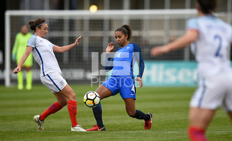Columbus, Ohio - Thursday March 01, 2018: Laura Georges during a 2018 SheBelieves Cup match between the women's national teams of the England (ENG) and France (FRA) at MAPFRE Stadium.