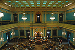 Senate Chamber, Michigan State Capitol, Lansing, Michigan, USA