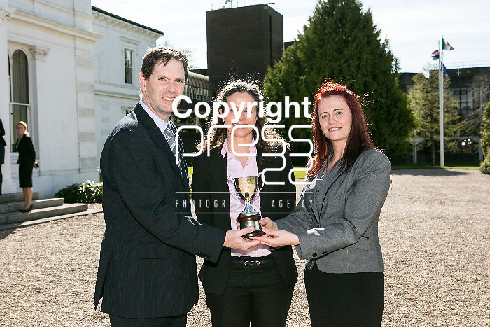 Edward Costello (Kerry Group), Dr. Eibhlis O'Connor (UL), Sylvia Murphy pictured at the Final year Project awards in University of Limerick Pictured Credit Brian Gavin Press 22