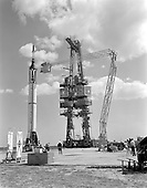 Cape Canaveral, FL - (FILE) -- Mercury-Redstone 3 (MR-3) Prelaunch Activities on the Mercury 5 launch pad on Friday, April 21, 1961. .Credit: NASA via CNP.