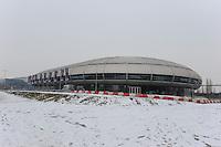 SCHAATSEN: DORDRECHT: Sportboulevard, Korean Air ISU World Cup Finale, 12-02-2012, Aanzicht buitenzijde ijsbaan, ©foto: Martin de Jong