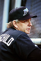 Tampa Bay Devil Rays Manager Larry Rothschild during a game against the Anaheim Angels at Angel Stadium circa 1999 in Anaheim, California. (Larry Goren/Four Seam Images)