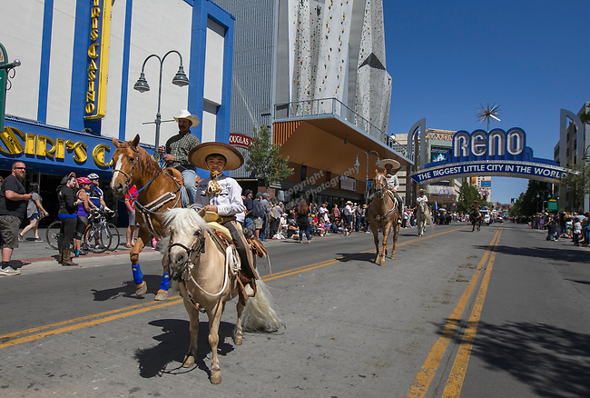 A photograph taken during the Reno Rodeo Parade on Saturday, June 22, 2019.