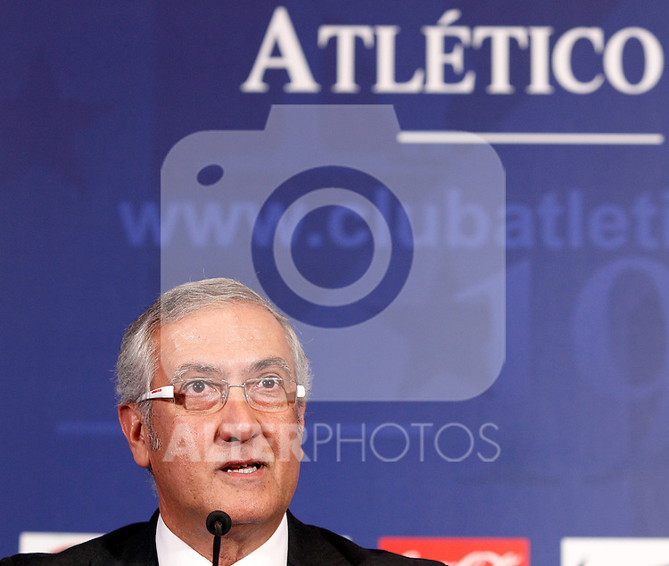 Atletico de Madrid's new coach Gregorio Manzano during his official presentation. June 10, 2011. (ALTERPHOTOS/Acero)