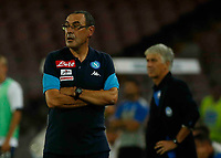 Maurizio Sarri  during the  italian serie a soccer match,between SSC Napoli and Atalanta      at  the San  Paolo   stadium in Naples  Italy , August 27, 2017