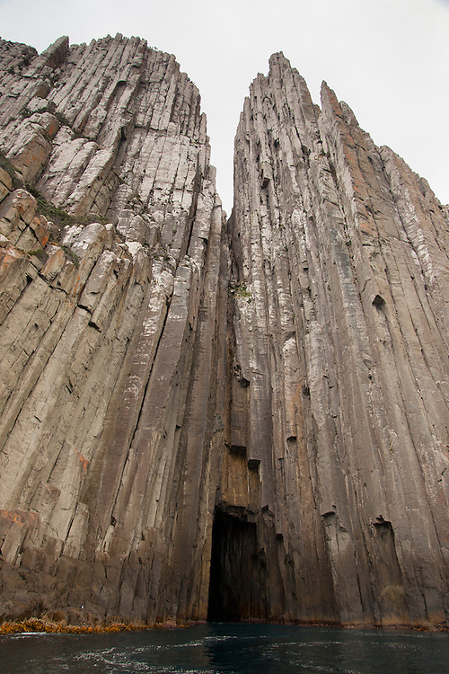 Cape Pillar, at 300 meters high, is the tallest sea cliff in the southern hemisphere