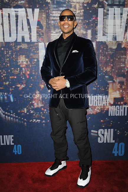 WWW.ACEPIXS.COM<br /> February 15, 2015 New York City<br /> <br /> Ludacris walking the red carpet at the SNL 40th Anniversary Special at 30 Rockefeller Plaza on February 15, 2015 in New York City.<br /> <br /> Please byline: Kristin Callahan/AcePictures<br /> <br /> ACEPIXS.COM<br /> <br /> Tel: (646) 769 0430<br /> e-mail: info@acepixs.com<br /> web: http://www.acepixs.com