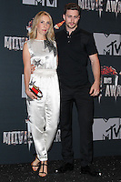 LOS ANGELES, CA, USA - APRIL 13: Sam Taylor-Wood, Aaron Taylor-Johnson in the press room at the 2014 MTV Movie Awards held at Nokia Theatre L.A. Live on April 13, 2014 in Los Angeles, California, United States. (Photo by Xavier Collin/Celebrity Monitor)