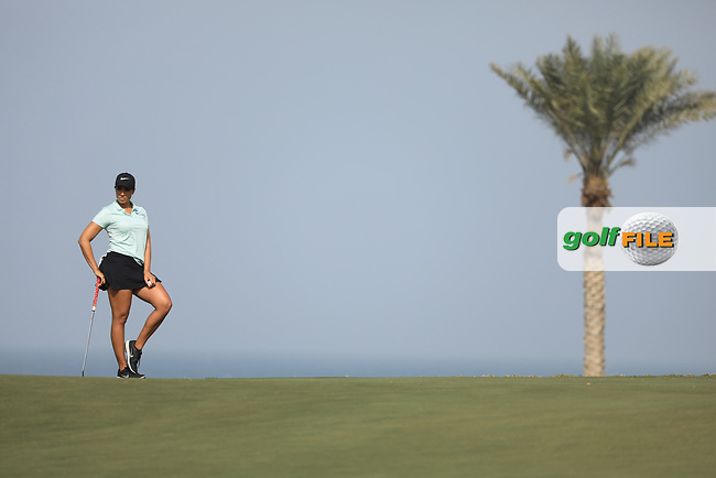 Cheyenne Woods (USA) during the first round of the Fatima Bint Mubarak Ladies Open played at Saadiyat Beach Golf Club, Abu Dhabi, UAE. 10/01/2019<br /> Picture: Golffile | Phil Inglis<br /> <br /> All photo usage must carry mandatory copyright credit (&copy; Golffile | Phil Inglis)