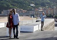 Actress Sarah Gadon and director Denis Villeneuve during the 61 San Sebastian Film Festival, in San Sebastian, Spain. September 21, 2013. (ALTERPHOTOS/Victor Blanco) /NortePhoto