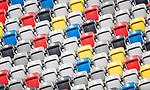 nph00351: Fussball, 1. Bundesliga, Saison 19/20, 26. Spieltag, Fortuna Düsseldorf - FC Paderborn 07, 16.05.2020:<br /> Leere Zuschauer Ränge <br />  <br /> <br /> Nur für journalistische Zwecke! Only for editorial use!<br /> <br /> Gemäß den Vorgaben der DFL Deutsche Fußball Liga ist es untersagt, in dem Stadion und/oder vom Spiel angefertigte Fotoaufnahmen in Form von Sequenzbildern und/oder videoähnlichen Fotostrecken zu verwerten bzw. verwerten zu lassen. DFL regulations prohibit any use of photographs as image sequences and/or quasi-video. <br /> <br /> Foto: Moritz Müller/Pool / via Meuter/nordphoto