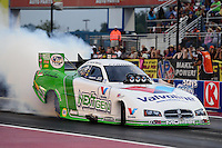 Sept. 16, 2012; Concord, NC, USA: NHRA funny car driver Jack Beckman during the O'Reilly Auto Parts Nationals at zMax Dragway. Mandatory Credit: Mark J. Rebilas-