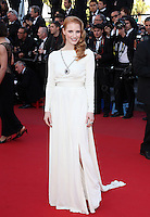 "Jessica Chastain at  the "" Behind The Candelabra ""  Premiere during The 66th Cannes Film Festival"