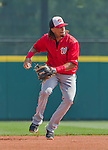 20 March 2015: Washington Nationals infielder Emmanuel Burriss warms up prior to a Spring Training game against the Houston Astros at Osceola County Stadium in Kissimmee, Florida. The Nationals defeated the Astros 7-5 in Grapefruit League play. Mandatory Credit: Ed Wolfstein Photo *** RAW (NEF) Image File Available ***
