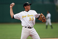 June 13th 2008:  Third baseman Ramon Ramirez of the South Bend Silver Hawks, Class-A affiliate of the Arizona Diamondbacks, during a game at Stanley Coveleski Regional Stadium in South Bend, IN.  Photo by:  Mike Janes/Four Seam Images