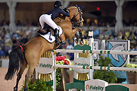 WELLINGTION, FL - FEBRUARY 10: SATURDAY NIGHT LIGHTS &ndash; $384,000 FIDELITY INVESTMENTS&reg; GRAND PRIX CSI 5*.Jessica Rae Springsteen Competes at  The Winter Equestrian Festival (WEF) is the largest, longest running hunter/jumper equestrian event in the world held at the Palm Beach International Equestrian Center. .Jessica is the second child and only daughter of Bruce Springsteen and Patti Scialfa on February 10, 2018  in Wellington, Florida.<br /> CAP/MPI122<br /> &copy;MPI122/Capital Pictures
