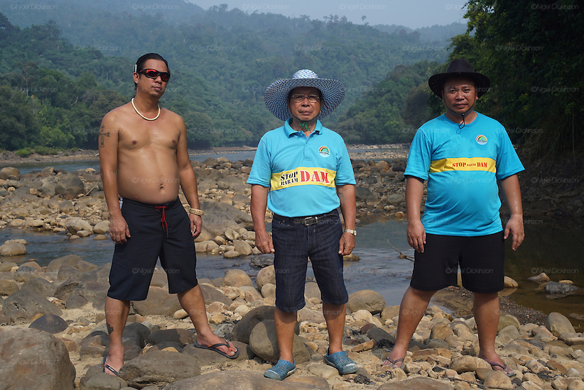 Blockades against the Baram Dam have been a huge success, after years of campaigning and protest, the Baram Dam in Sarawak has now been shelved. Community leaders at site of Baram dam. Baram Sarawak 2015<br />