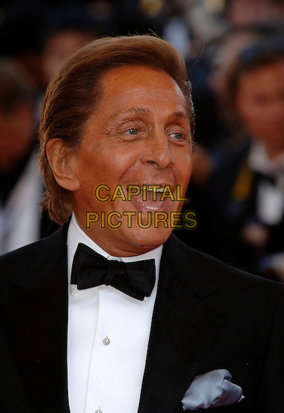 "VALENTINO GARAVANI.""The Da Vinci Code"" world film premiere at the 59th International Cannes Film Festival, Cannes, France. .17th May 2006.Ref: PL.headshot portrait mouth open bow tie.www.capitalpictures.com.sales@capitalpictures.com.©Phil Loftus/Capital Pictures"