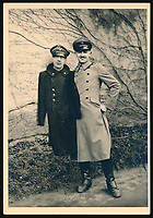 BNPS.co.uk (01202 558833)<br /> Pic: Warwick&Warwick/BNPS<br /> <br /> Polish prisoners Leo de Hartog holding 'Moritz', a dummy head of a POW made to mislead German guards during daily roll calls.<br /> <br /> A remarkable archive of photos which provide a glimpse inside the infamous Colditz Castle has come to light.<br /> <br /> The photos show the ingenuity of the Allied POWs who devised ever-bolder ways to escape from the German stronghold during World War Two.<br /> <br /> The photos were taken by the official Colditz photographer Johannes Lange, who was employed by the German Army to take pictures of failed Allied escape attempts. They were then distributed to other POW camps to alert the guards to the methods the inmates were using in their bids for freedom.<br /> <br /> The archive is being sold by a private collector with auctioneer Warwick & Warwick, with an estimate of £1,750.