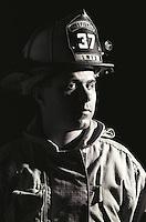 Portrait of fireman