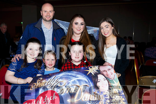 Ella Kate, Liliana O'connor, Sarah Dineen. Back row: Richard Halpin, Eimear O'Donoghue and Gretta Dineen at the Killarney Strictly Come Dancing in the INEC on Friday night