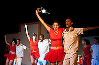 Salsa Show nightime Holguin City. Holguin Province Cuba. 6-12-10