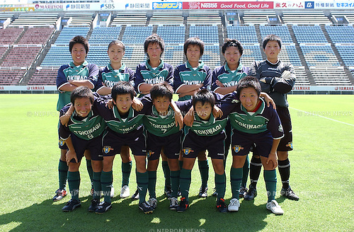 Tokiwagi Gakuen team group line-up,.AUGUST 10, 2004 - Football / Soccer :.13th All Japan High School Women's Soccer Tournament final match between Tokiwagi Gakuen 1-2 Kamimura Gakuen at Yamaha Stadium in Iwata, Shizuoka, Japan. (Photo by AFLO).Aya Sameshima (Top row, 2nd L)