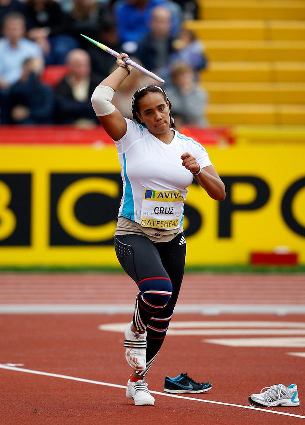 Photo: Richard Lane/Richard Lane Photography. Aviva British Grand Prix, Gateshead. 31/08/2008. Portugal's Silvia Cruz in the women's javelin.
