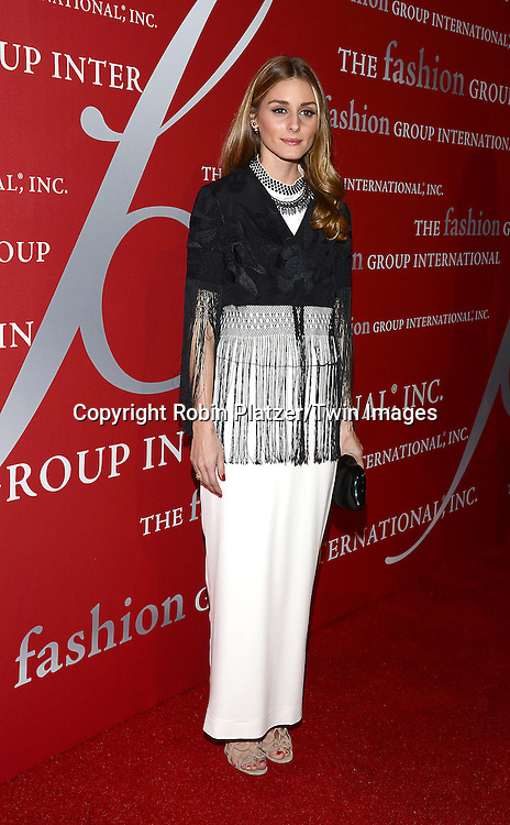 Olivia Palermo attend the 31st Annual Night of Stars &quot;The Protagonists&quot;<br /> presented by The Fashion Grouip International on October 23, 2014 at Cipriani Wall Street in New York City.<br /> <br /> photo by Robin Platzer/Twin Images<br />  <br /> phone number 212-935-0770
