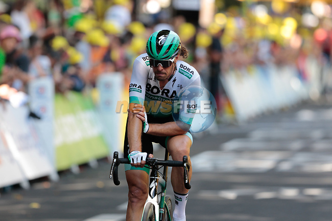 Daniel Oss (ITA) Bora-Hansgrohe crosses the finish line of Stage 11 of the 2019 Tour de France running 167km from Albi to Toulouse, France. 17th July 2019.<br /> Picture: Colin Flockton | Cyclefile<br /> All photos usage must carry mandatory copyright credit (© Cyclefile | Colin Flockton)