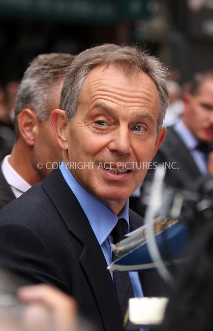 WWW.ACEPIXS.COM . . . . .  ....September 8 2009, New York City....Former British Prime Minister Tony Blair  made an appearance at the 'Late Show with David Letterman' on September 8 2009 in New York City....Please byline: AJ SOKALNER - ACE PICTURES.... *** ***..Ace Pictures, Inc:  ..tel: (212) 243 8787 or (646) 769 0430..e-mail: info@acepixs.com..web: http://www.acepixs.com