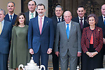 Family photo with all the winners and the Spanish Royals attends to National Sport Awards 2016 at El Pardo Palace in Madrid , Spain. February 19, 2018. (ALTERPHOTOS/Borja B.Hojas)