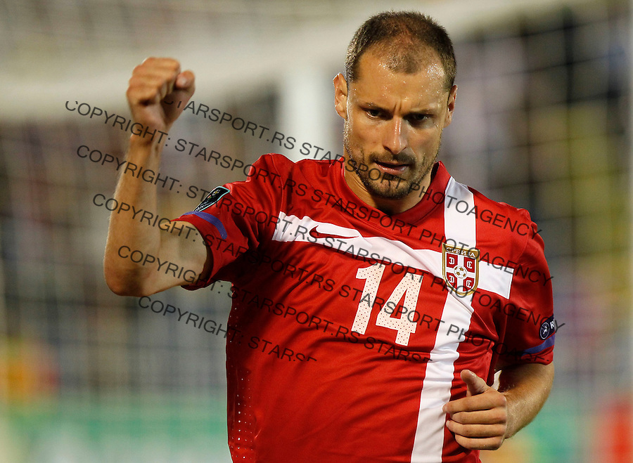 Fudbal, EURO 2012 Group C, qualifications.Serbia Vs. Farska Ostrva (Faroe Islands).Milan Jovanovic, celebrate his first goal .Beograd, 06.09.2011..Foto: Srdjan Stevanovic/Starsportphoto.com ©