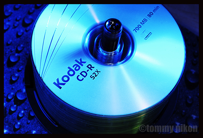 Mock ad of Kodak brand CDs