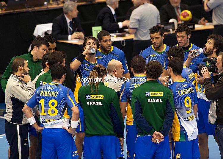 23rd IHF Men's World Championship; BRA-TUN.Team Brazil.