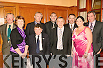 8916-8920.CLUB SOCIAL: Having the craic at the Kerry GAA supporters club annual social in the Ballygarry house hotel last Saturday night were front l-r: Kit Ryan, Leo Griffin, Donie Leary and Karen McAuliffe. Back l-r: Jer Savage, John King, Jimmy Darcy, Martin Leen and John Connell.