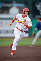 Johnson City Cardinals right fielder Kevin Woodall (34) runs the bases during a game against the Danville Braves on July 28, 2018 at TVA Credit Union Ballpark in Johnson City, Tennessee.  Danville defeated Johnson City 7-4.  (Mike Janes/Four Seam Images)