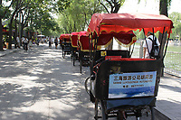 Beijing ,China- 2007 File Photo -<br /> <br /> <br />  rick shaw on street<br /> <br /> <br /> photo : James Wong-  Images Distribution