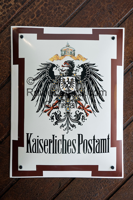 Austria, Lower Austria, UNESCO World Heritage Wachau, Krems: sign at Hotel Alte Post - former Imperial Post