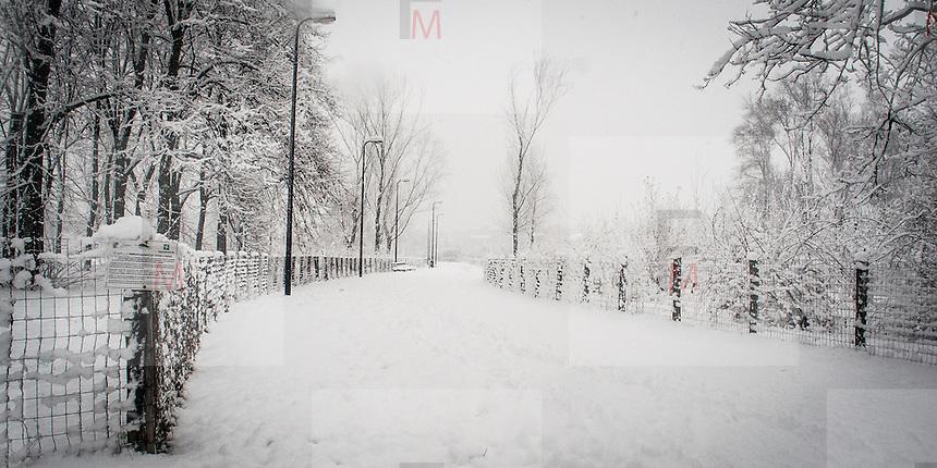 Il Parco Nord di Milano durante l'ultima nevicata di febbraio<br /> <br /> &quot;Parco Nord&quot; in Milan during the last snowfall in february