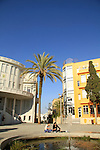 Israel, Bialik square in tel aviv, the first city hall is on the left