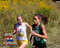 Eureka's Hannah Long and Ste. Genevieve's Taylor Werner @ 8/10ths of a mile.