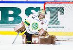 S&ouml;dert&auml;lje 2014-09-22 Ishockey Hockeyallsvenskan S&ouml;dert&auml;lje SK - IF Bj&ouml;rkl&ouml;ven :  <br /> Bj&ouml;rkl&ouml;vens m&aring;lvakt Kevin Lindskoug i aktion <br /> (Foto: Kenta J&ouml;nsson) Nyckelord: Axa Sports Center Hockey Ishockey S&ouml;dert&auml;lje SK SSK Bj&ouml;rkl&ouml;ven L&ouml;ven IFB portr&auml;tt portrait
