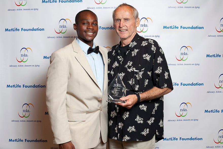 Silver Honoree Tim Wingard, right, and Giovanni Douresseau, left, at the Older Volunteers Enrich America Awards at the Double Tree Hotel in Washington, DC on Friday, June 17, 2011.