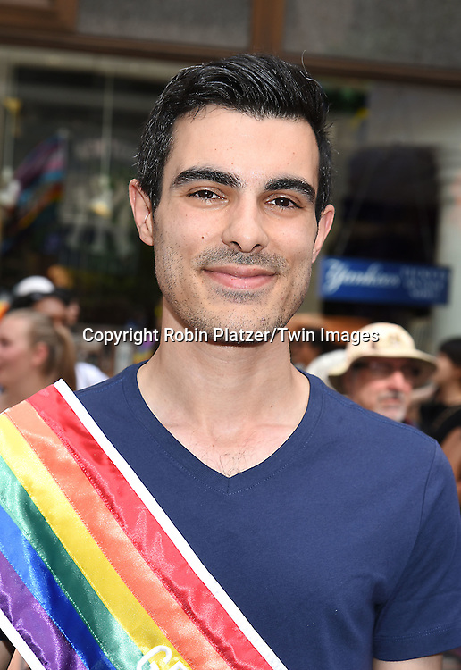 Grand Marshal Subhi Nahas, Gay Syrian refugee attends the New York City Gay Pride March 2016 on June 26, 2016 on Fifth Avenue in New York City, New York, USA.<br /> <br /> photo by Robin Platzer/Twin Images<br />  <br /> phone number 212-935-0770